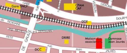 Plan d'accès à la maison des activités
